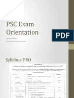 PSC syllabus for DEO & AEO EXam Orientation