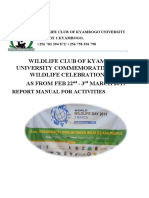 Wildlife Club of Kyambogo University in Arua on 3rd March 2019