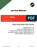 Cummins Onan HQDSB Hybrid Quiet Diesel Power System Service Repair Manual.pdf