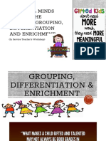 Grouping, Differentiation & Enrichment