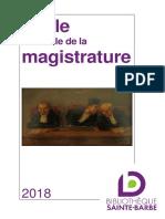 Ecole Nationale de la Magistrature 2018