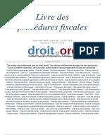 Impots Procedures Fiscales 2018