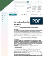 La Sociologia Del Consumo en Pierre Bourdieu