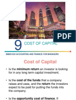 Lecture 9 Cost of Capital