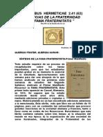 Syllabus 62-Sintesis de La Fama Fraternitatis