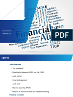 Notes on Role of the External Auditor