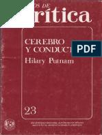 Putnam, Hilary - Cuadernos de crítica. Cerebro y conducta.pdf