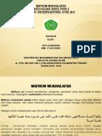 Ppt Ushul Fikih 2 Mafhum Mukhalafah