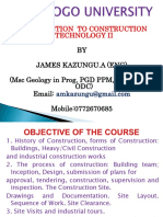 Construction Technology Chapter One