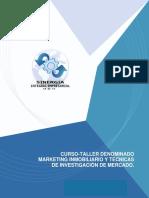 Curso - Taller Denominado Marketing Inmoviliario y Tecnicas de Investigacion de Mercado