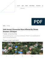 United Nations Report Says India Among 5 Economies That Lost the Most Due to Climate Disasters