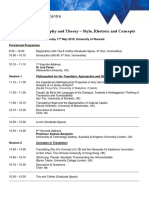 Provisional Programme Conference Tpt