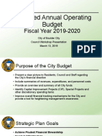2020 Budget Overview