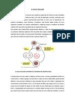Ciclo Celular - Mitose e Citocinese. Biotecnologia e Farmácia 2017.docx