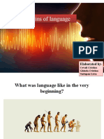 the origins of human language
