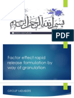 Factor effect rapid release formulation by way of.pptx