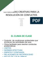 Estrategias Creativas Para La Resolución de Conflictos
