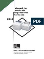 Manual Zebra 2844br