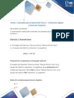 Anexo -1-Ejemplos para el desarrollo Tarea 1 - Conectivos Lógicos y Teoría de Conjuntos.docx