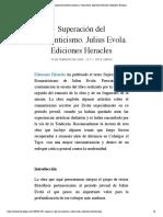Superación del Romanticismo. Julius Evo...iciones Heracles | Biblioteca Evoliana