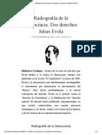 Radiografía de la Democracia. Dos derechos. Julius Evola | Biblioteca Evoliana