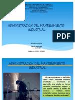 Admon Del Mantenimiento Industrial
