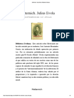 Metternich. Julius Evola | Biblioteca Evoliana