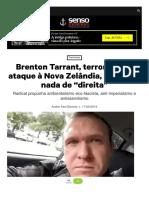 Brenton Tarrant Terrorista Do Ataque a Nova Zela n
