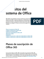 Requisitos Del Sistema de Microsoft Office