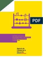 Factores Asociados Simce e Indicadores Desarrollo Personal Social 2014