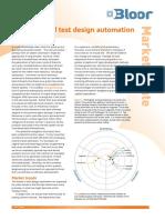 Bloor Market Update Paper Best of Breed Test Design Automation
