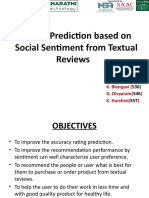 Rating Prediction Based on Social Sentiment From Textual