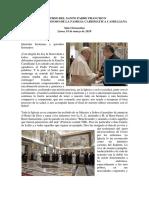 Discurso Del Santo Padre Francisco a La Gran Familia Camiliana
