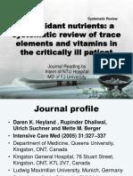Antioxidant Nutritients