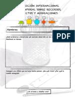 Cuaderno Exposición Recursos, Conflictos y Migraciones