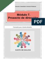 Módulo 7.  Proxecto de dirección