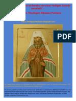 """""""Der Ökumenismus ist bereits von einer Heiligen Synode verurteilt"""" - Artikel des Theologen Nikolaos Pantazis"""