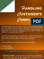 Handling Customers Complaints presentation