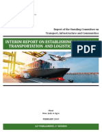 Establishing a Canadian Transportation and Logistics Strategy.