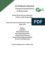 Diseño Del Proceso de Separación Para Caseína a Partir de Leche.