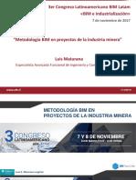Metodologia BIM en Proyectos de La Industria Minera Luis Maturana Codelco