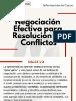 Curso Negociación Efectiva para Resolución de Conflictos