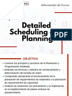 Curso Detailed Scheduling and Planning