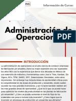 Curso Administración de Operaciones