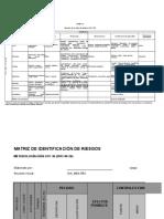 Descargar Formato Matriz Para Identificación de Peligros, Valoración de Riesgos y Determinación de Controles -S2