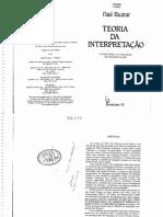 Teoria Da Interpretação - Paul Ricoeur