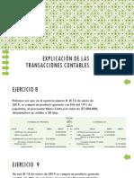 Explicación de Las Transacciones Contables