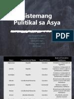 Sistemang Pulitikal At Ekonomiya sa Asya