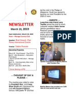 Moraga Rotary Newsletter March 19 2019