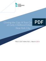 Closing the Gap (a True Cost Analysis) - March 2019